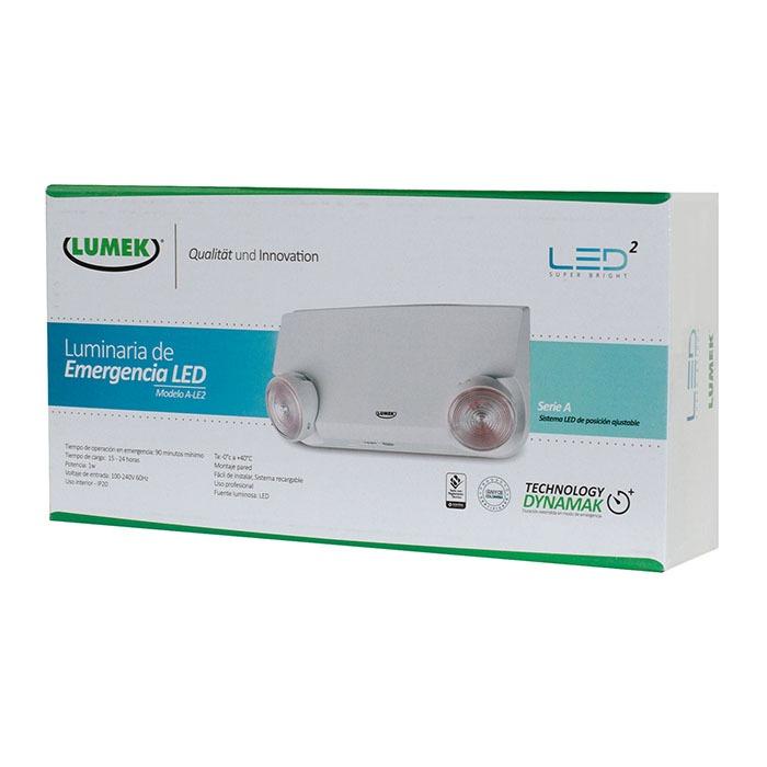 Luminaria LED Emergencia 1W A-LE2 Serie A