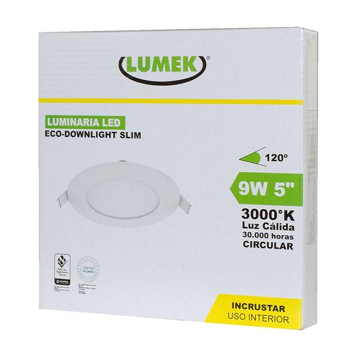 Luminaria Led Eco Downlight Bc5 9W 3000k