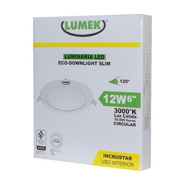 Luminaria Led Eco Downlight Bc6 12W 3000k Circular