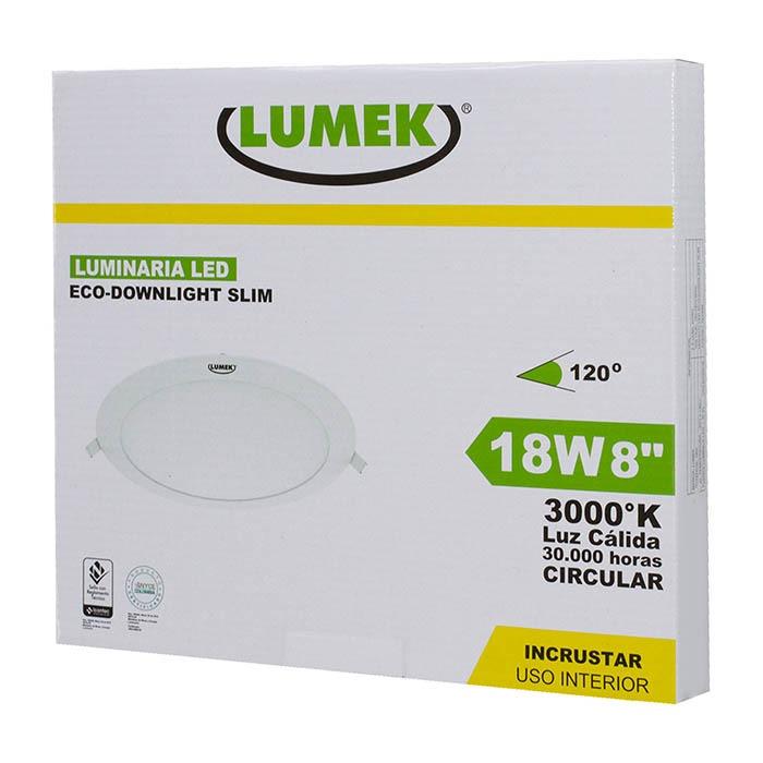 Luminaria Led Eco Downlight Bc8 18W 3000k Incrustar