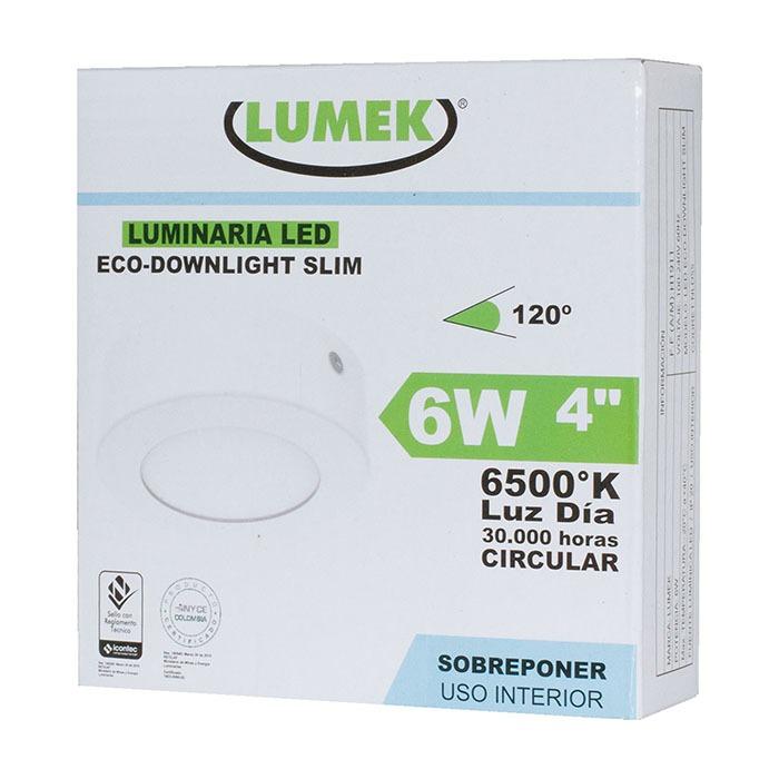 Luminaria Led Eco Downlight Bc4 6W 6500k