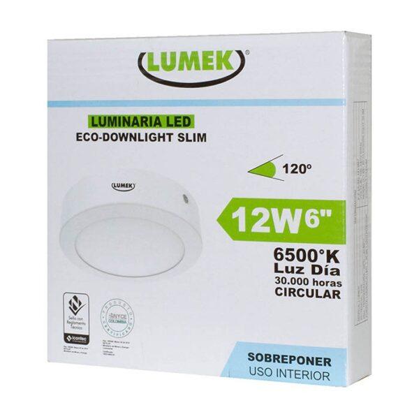 Luminaria Led Eco Downlight Bc6 12W 6500k