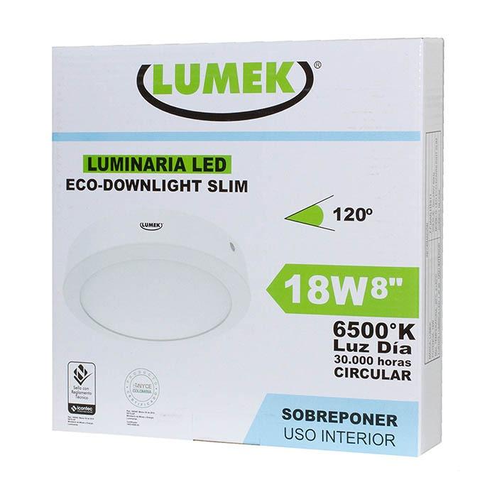 Bombillo Led Eco Downlight Bc8 Sobreponer Circular