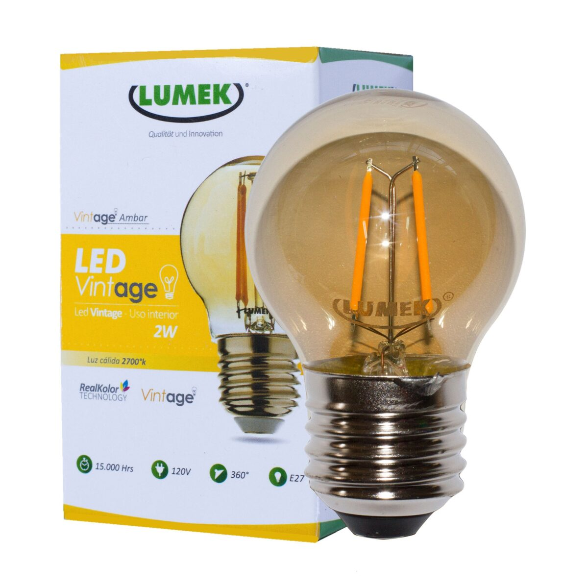 LED ECO VINTAGE AMBAR 2W 2700K 120V E27 LUMEK_2