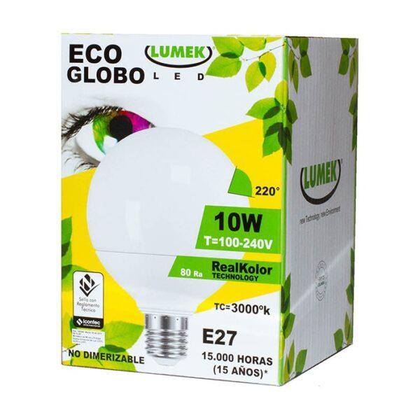 Bombillo Led Eco Globo 10W 3000k
