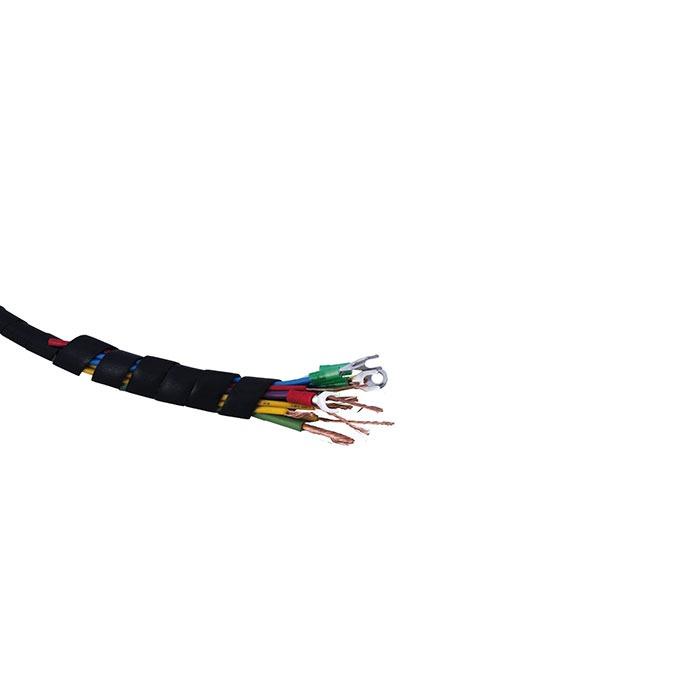 Espiral organizador de cables Dexson Negro 1 Long 10m