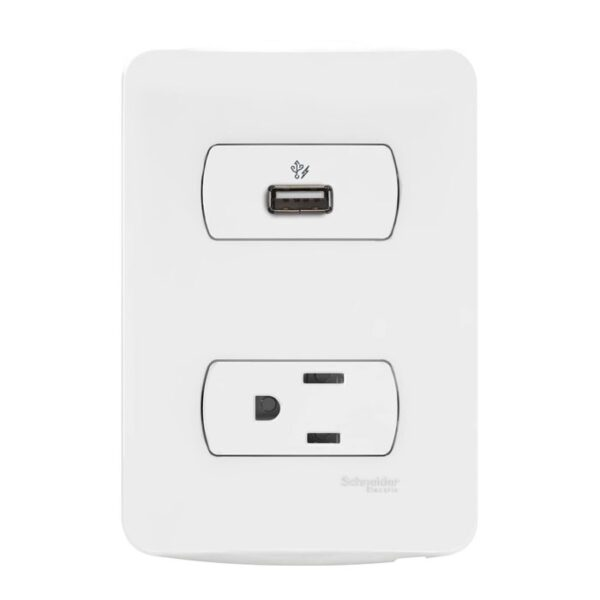 MILUZ Cargador USB y Tomacorriente Sencilla 15A UE 6